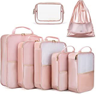 Packing Cubes, LIGHT FLIGHT 7 Set Packing Cubes for Carry on Suitcase, Lightweight Travel Organizer Bags for Luggage