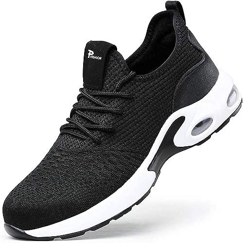 Gainsera Chaussures de Travail de sécurité Hommes Femmes Bout en Acier Chaussures de sécurité Anti-crevaison Protecti...