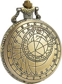 Sibosun antique Doctor Who montre de poche Dr. Who Bronze Coque à quartz Cadran blanc Chaîne pour homme + Boîte