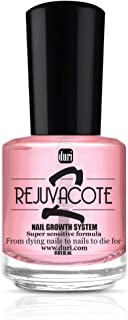 duri Rejuvacote 2 Nail Growth System, Super sensitive formula, Base and Top Coat, 0.61 fl.oz.