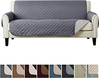 Home Fashion Designs Reversible Sofa Cover. Furniture Covers for Living Room with Secure Straps. Furniture Protectors for Kids, Dogs and Pets. (74