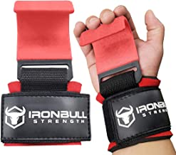 Iron Bull Strength Weight Lifting Steel Hooks (Pair) - Heavy Duty Lifting Wrist Straps - Deadlift Straps for Powerlifting- Thick Padded Workout Hook - Weightlifting Gloves for Heavy Lifting