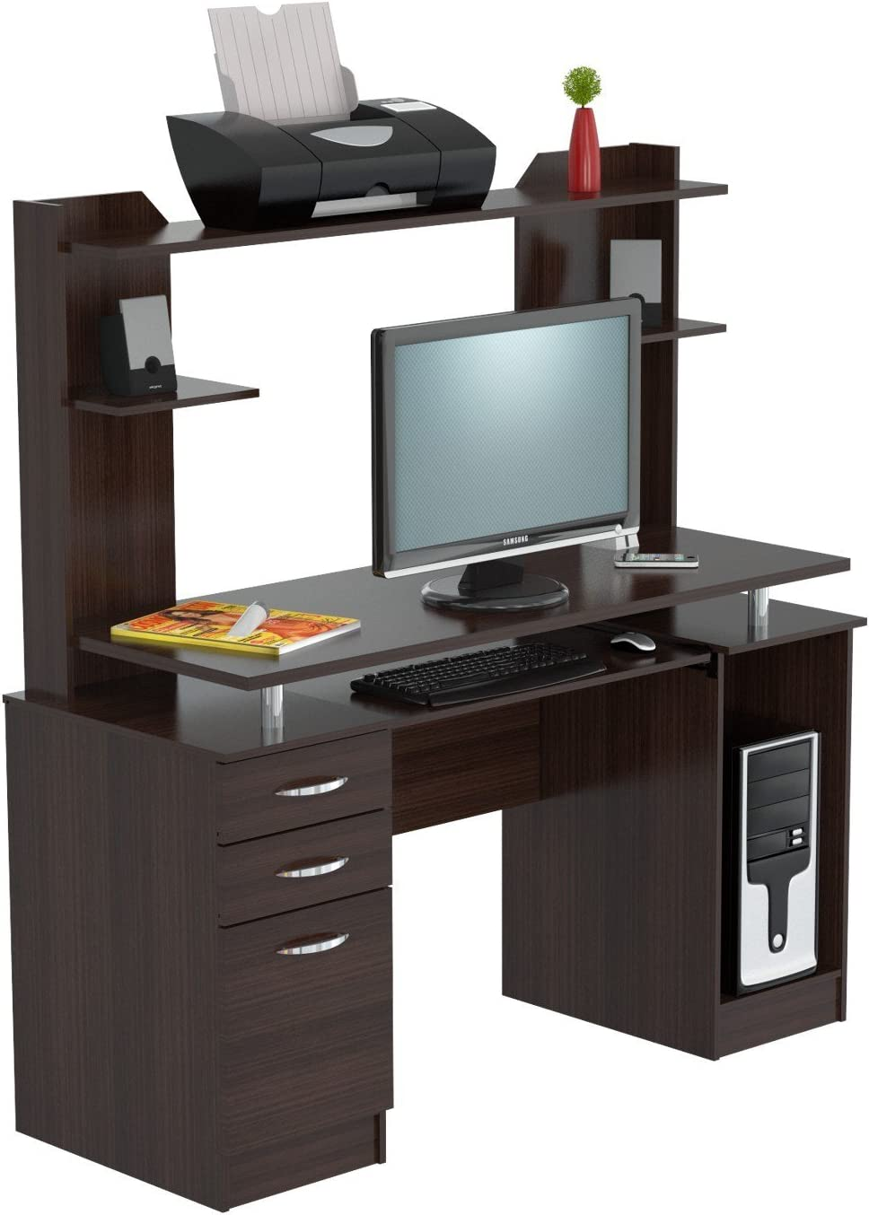 Our shop most popular Inval America Computer Workcenter Hutch With Espresso Ranking TOP15