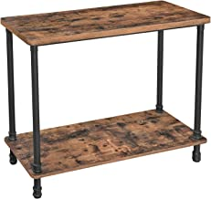 VASAGLE Industrial Console Table, Sofa Table with Iron Pipe Legs and 1.2 Inch Thick Table Top, Easy Assembly, Accent Table...