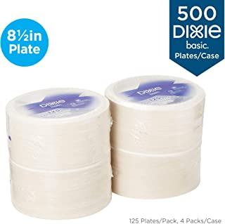"""Dixie Basic 8.5"""" Light-Weight Paper Plates by GP PRO (Georgia-Pacific), White, DBP09W,.."""