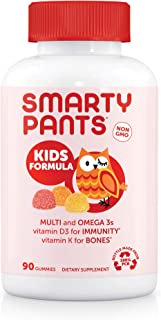 SmartyPants Kids Formula Daily Gummy Vitamins: Gluten Free, Multivitamin & Omega 3 Fish Oil (Dha/Epa), Methyl B12, vitamin...