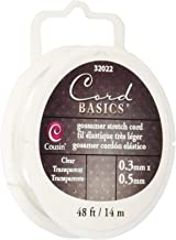 Cousin Craft and Jewelry Gossamer Stretch Cord, 1/2mm 48 Feet/Pkg, Clear