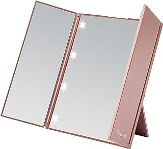 Espejo de maquillaje Miss Sweet compacto con triple despliegue con iluminación