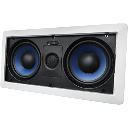 5252W Silver Ticket in-Wall in-Ceiling Speaker with Pivoting Tweeter (Dual 5.25 Inch in-Wall Center Channel)