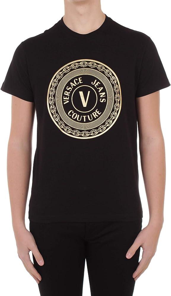 Versace jeans couture, t-shirt manica corta da uomo, maglietta, 100 %  cotone B3.GWA7TE.30319-K42_3
