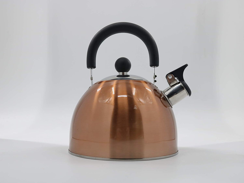 Gold/_2.7L Tea Kettle Stovetop Teapot Stainless Steel Whistling Teakettle with 2.7 Liter 2.4 Quart