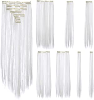 Best white clip in hair streak Reviews
