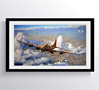 DROB Collectibles WWII Airplane Bomber WAR Boeing B-17 Flying Fortress Poster Mural - Photography Art 17