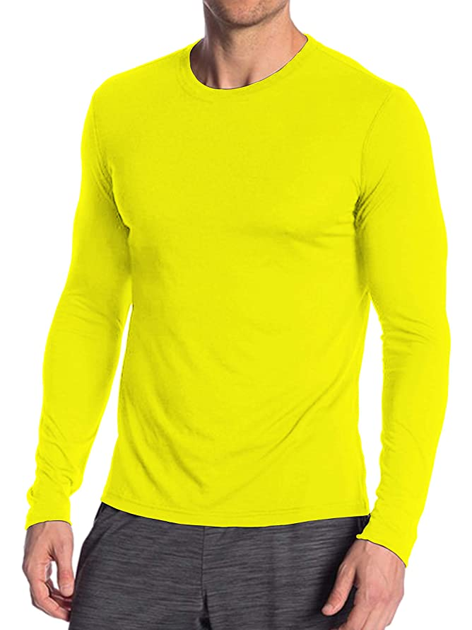 Miracle(Tm) Neon Color Athletic Wicking T Shirt - Adult Mens Womens High Visibility Shirt