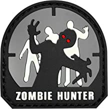 Zombie Hunter IFF PVC Rubber Hook and Loop Patch - 50mm(Grey)