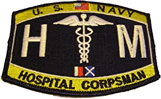 U.S. NAVY HOSPITAL CORPSMAN HM PATCH - Color - Veteran Owned Business