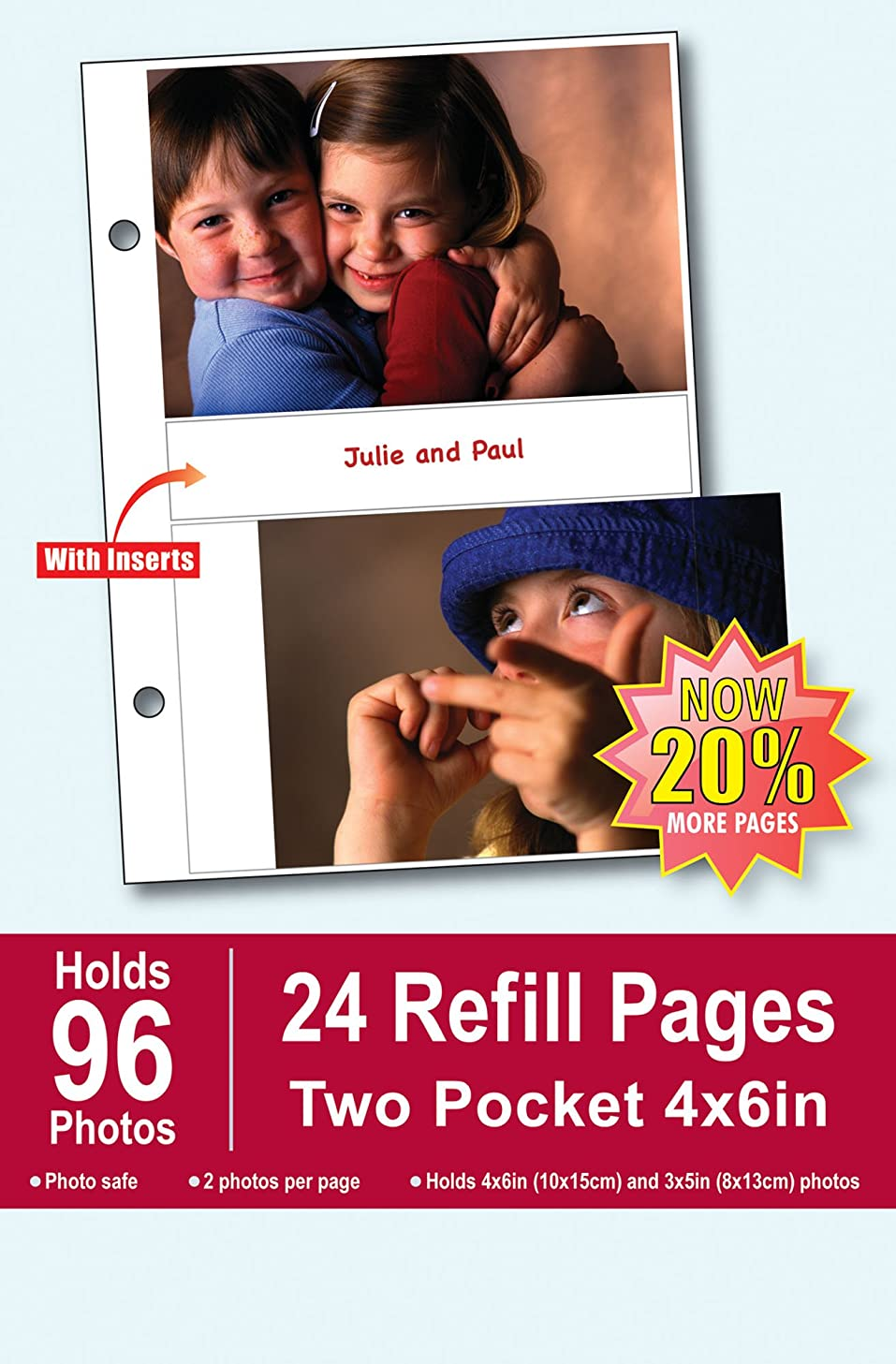Burnes of Boston Photo Album Refill Pages, 4 by 6-Inch