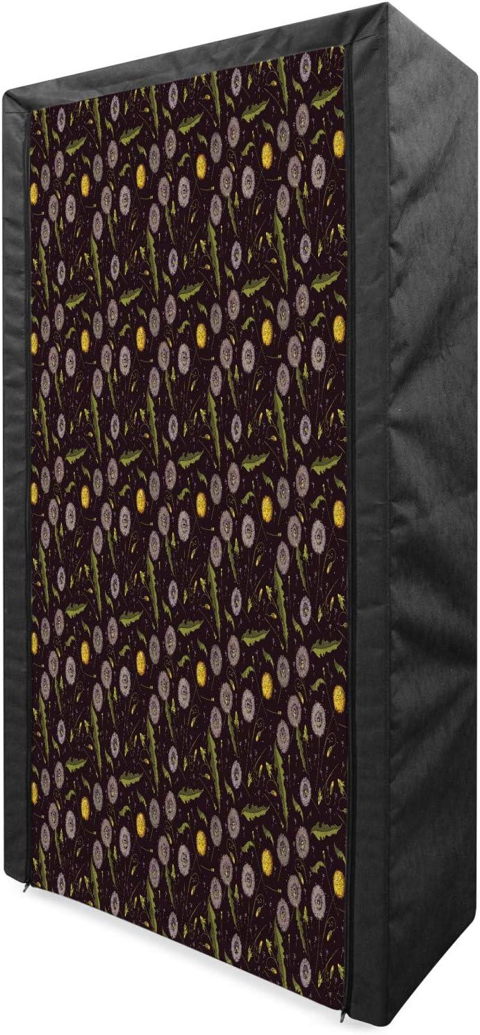 Lunarable famous outlet Dandelion Portable Fabric Botanical Wardrobe Composit