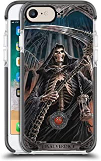 Official Anne Stokes Final Verdict Tribal Black Shockproof Gel Bumper Case for iPhone 7 / iPhone 8