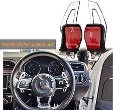 Steering Wheel DSG Paddle Shifter Extensions Aluminum For VW MK5 MK6 GTI Jetta[Silver]