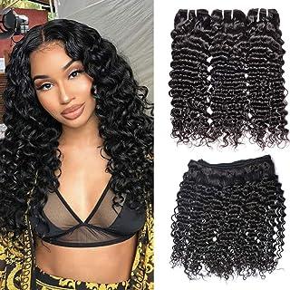 Ms Sunlight Hair Brazilian Curly Hair 3 Bundles 8A Unprocessed Virgin Brazilian Hair Curly Weave Human