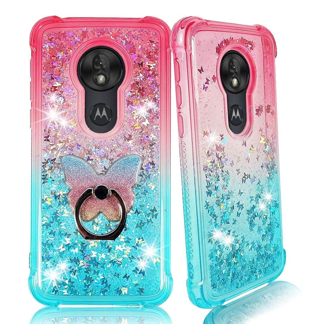 Moto G7 Play Clear Case, ZASE [Liquid Glitter Sparkle Bling] for Moto G7 Play (5.7