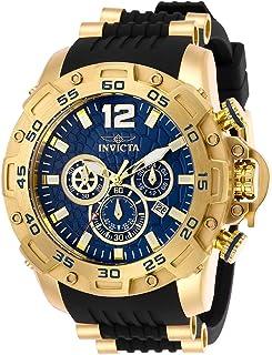 ساعة انفيكتا للرجال برو دايفر ستانلس ستيل كوارتز مع حزام بولي يوريثان، اسود، 26 موديل 26407