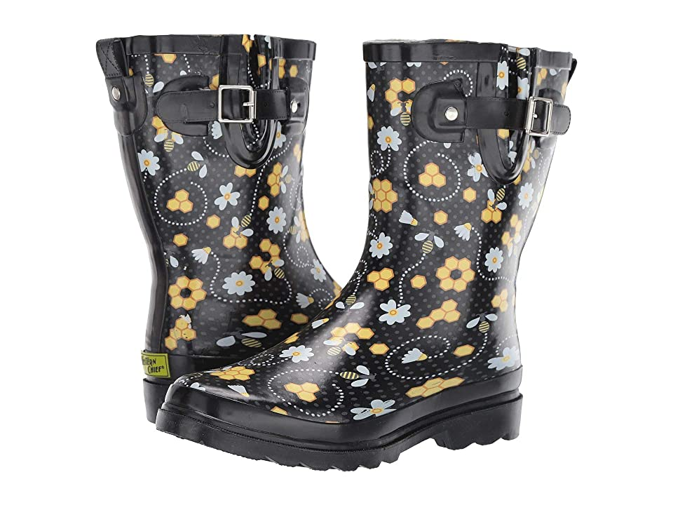 Western Chief Bloom Bees Mid Boot (Black) Women