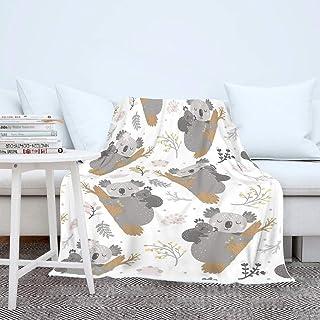 Morebee Koala Funny Fleece Throw Blanket Custom Design Soft Lightweight Blanket for Bed Couch Sofa Travelling Camping for Kids Girls Boys Adults 30x 45
