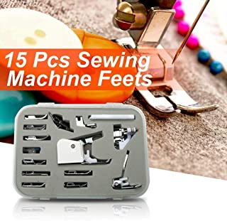 SimSel Low Shank 15 Piece Foot Set for Select Brother Sewing Machines