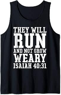 Isaiah 40:31 Run Bible Christian Gym Workout Fitness Running Tank Top