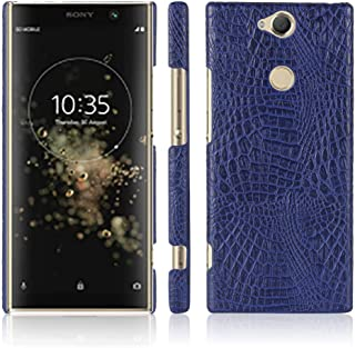 ZCHENG Sony Xperia XA2 Plus Case, [Ultra-Thin] Minimalist Slim fit PU Leather Back Cover Case ,for Sony Xperia XA2 Plus (Blue)