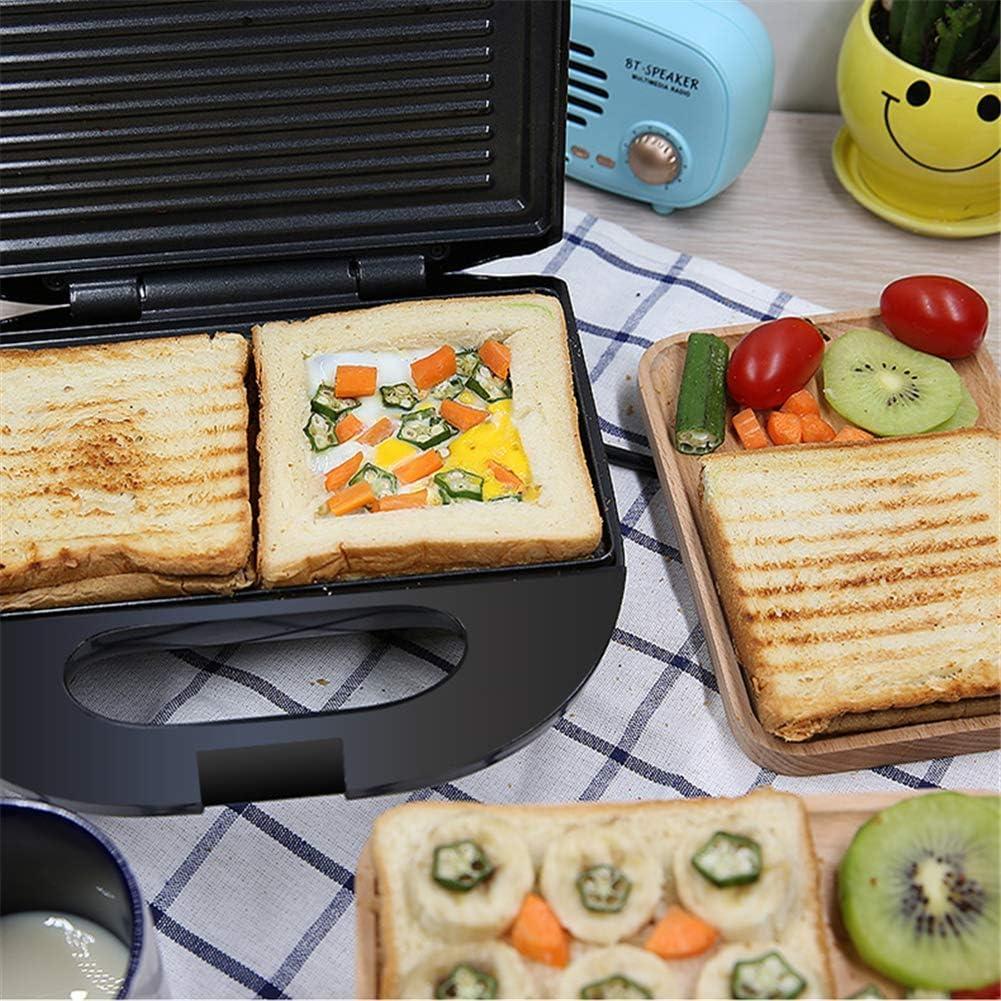 SEESEE.U Électrique Gaufres Machine Fer Sandwich Machine Antiadhésive Pan Bulle Oeuf Gâteau Four Petit Déjeuner Gaufre Machine Grey