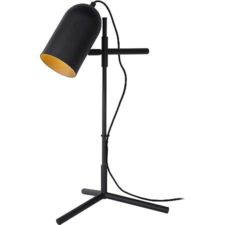 Lucide 45584/01/30 Lampe de Table, Acier, 40 W, Noir