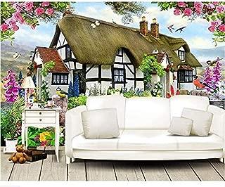 Raiev Custom Wallpapers Gorgeous Pastoral English Country Cottage Rose Garden Children S Room Tv Backdrop Mural 3D Wallpaper-F