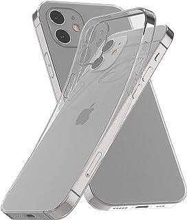 LEONAS Funda transparente de silicona para iPhone 12, compatible con iPhone 12, ultrafina, flexible, antigolpes, transparente