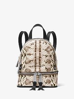 MICHAEL MICHAEL KORS Rhea Mini Snake-Embossed Leather Backpack - Multi Color