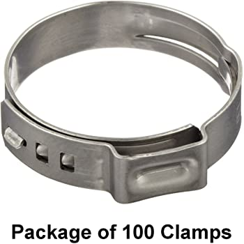 Bolted 17800125S-25 - 36 mm 9 mm Band Width Pack of 25 Oetiker 17800175 Stainless Steel Self-Tensioning StepLess Hose Clamp Closed Open Clamp ID Range 30 mm