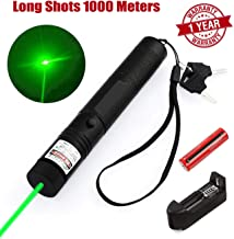 Green Light Pointer High Power Visible Beam with Adjustable Focus for Hunting Hiking Mini Flashlight Interactive Light Entertain and Train Your Cat Kitten Dog Pet.