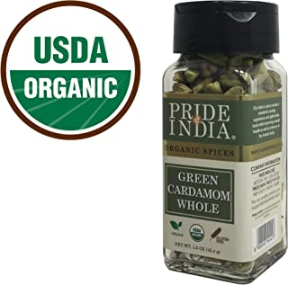 Pride Of India - Organic Green Cardamom Whole- 1.6 oz (45 gm) Dual Sifting Jars - Authentic Indian Green Pods - Best added to Rice, Tea - BUY 1 GET 1 FREE (MIX AND MATCH - PROMO APPLIES AT CHECKOUT)