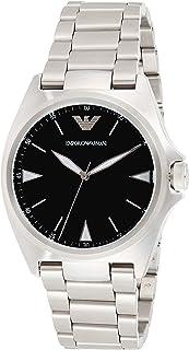 ساعة يد للرجال من امبوريو ارماني، فضية اللون