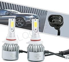 LQQDP 2pcs 9005/HB3 6000K Cool White 7200LM LED COB Bulbs Conversion Kit For Headlights High Low Beam Driving Fog Light DC 12V/24V IP67 Waterproof Set of 2 Left+Right Replacement