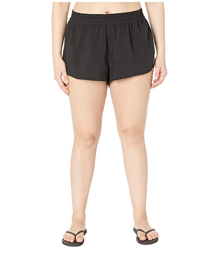 Volcom Plus Size 2 Simply Solid (Black) Women