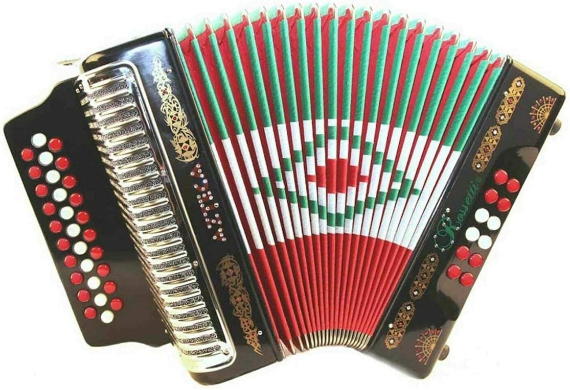 Popular product Rossetti Azteca 3112 31 Button 12 Accordion Elegant White Bass FBE Red