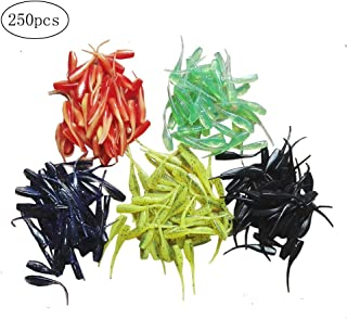Colorful Sexy Tail Shad Soft Baits for Fishing Crappie Suitable for All Kinds of Rigs(PVC/1.97inch/0.04oz/50pcs of Package/5 Colors Options)