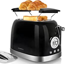 Sponsored Ad - CROWNFUL 2-Slice Toaster, Extra Wide Slots, Retro Stainless Steel Toaster with Bagel, Cancel Defrost and Re...