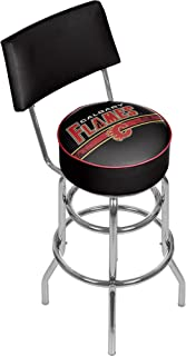 Trademark Gameroom NHL Calgary Flames Swivel Bar Stool with Back