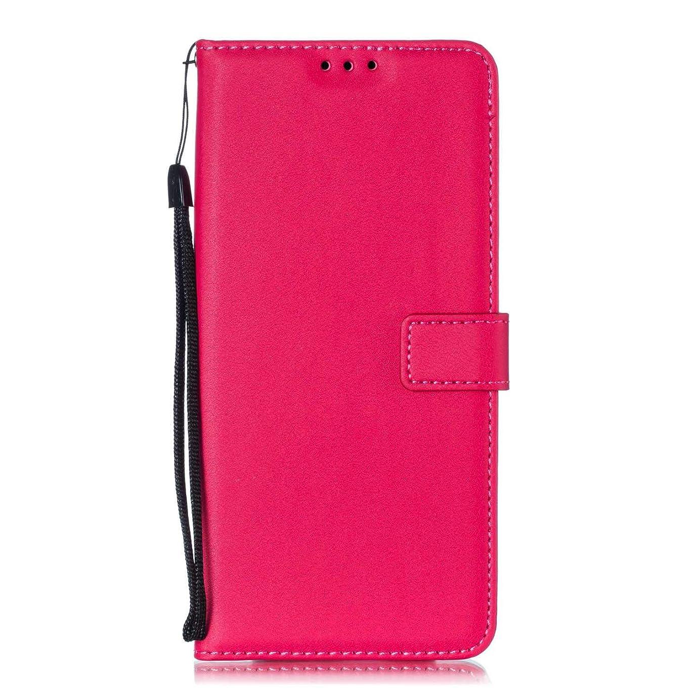 エンコミウムどれでも反対Galaxy Note 9 ケース Zeebox? 手帳型 PU レザー カード収納 スタンド 機能 ストラップ付き ギャラクシ Galaxy Note 9 おしゃれ 人気スマホケース 衝撃吸収 全面保護 カバー –ホトピンク