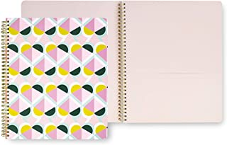 Kate Spade New York Large Spiral Notebook with 160 College Ruled Pages, Geo Spade