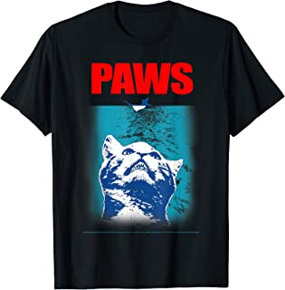 PAWS (JAWS) Cat Looking up at Rat T-shirt